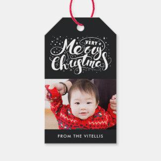 Etiquetas Para Regalos El regalo de la foto de las Felices Navidad muy