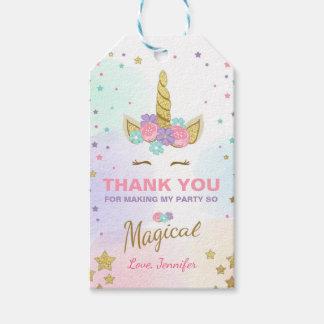 Etiquetas Para Regalos El unicornio le agradece marca cumpleaños mágico