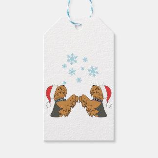 Etiquetas Para Regalos Embalaje del navidad de Yorkshire Terrier