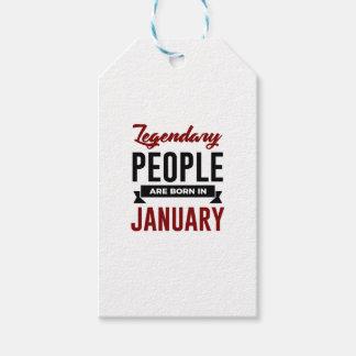 Etiquetas Para Regalos En enero cumpleaños llevado legendario de los