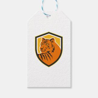 Etiquetas Para Regalos Escudo delantero principal del tigre retro