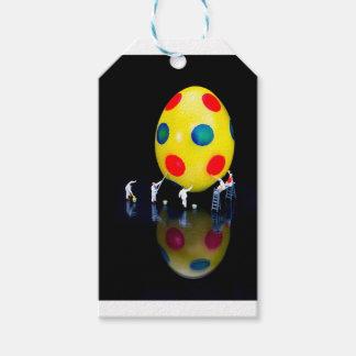 Etiquetas Para Regalos Estatuillas miniatura que pintan el huevo de