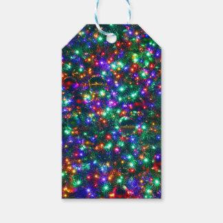 Etiquetas Para Regalos Estrellas chispeantes del navidad