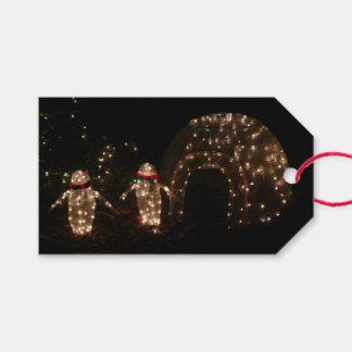 Etiquetas Para Regalos Exhibición de la luz del día de fiesta de Pengiun