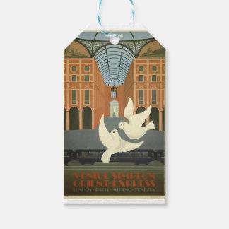 Etiquetas Para Regalos Expreso de Milano Oriente del viaje del vintage