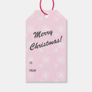 Etiquetas Para Regalos Felices Navidad de la impresión del copo de nieve