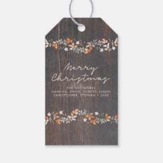 Etiquetas Para Regalos Felices Navidad rústicas