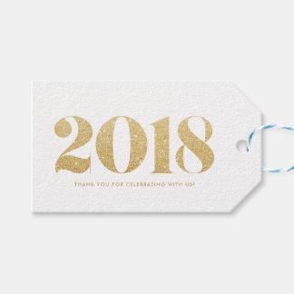 Etiquetas Para Regalos Feliz Año Nuevo 2018 de la falsa del oro