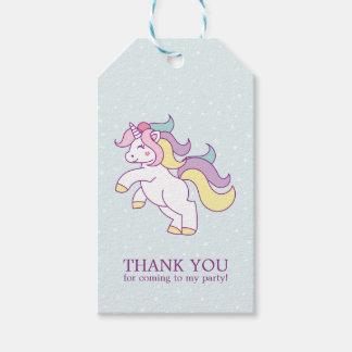 Etiquetas Para Regalos Fiesta de cumpleaños de los chicas del unicornio