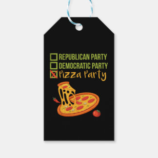 Etiquetas Para Regalos Fiesta de la pizza - votación divertida de la