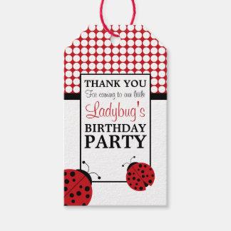 Etiquetas Para Regalos Fiesta del cumpleaños de los niños rojos de la