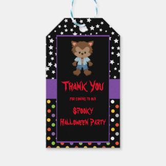 Etiquetas Para Regalos Fiesta lindo de Halloween del hombre lobo del