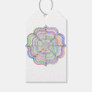 Etiquetas Para Regalos Flor cromática de la mandala del arco iris