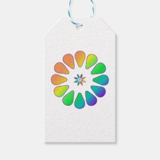 Etiquetas Para Regalos Flor del arco iris
