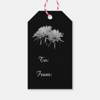 Etiquetas Para Regalos Floraciones blancos y negros del cactus