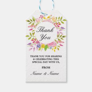 Etiquetas Para Regalos Floral gracias marca favor de banquete de boda con