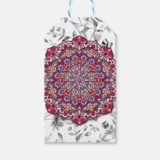 Etiquetas Para Regalos Floral Mandala