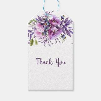 Etiquetas Para Regalos Florales púrpuras de la lavanda violeta le