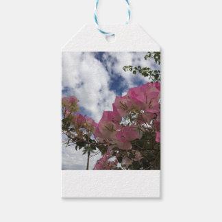 Etiquetas Para Regalos flores rosadas contra un cielo azul