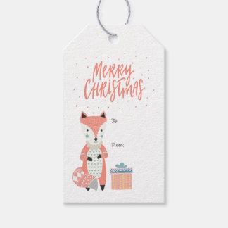 Etiquetas Para Regalos Fox escandinavo el | de las Felices Navidad