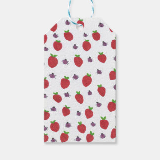 Etiquetas Para Regalos Fresas y señora Bugs Fruity Pattern
