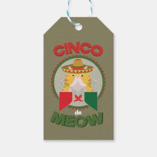 Etiquetas Para Regalos Gato divertido para el día de fiesta del mexicano