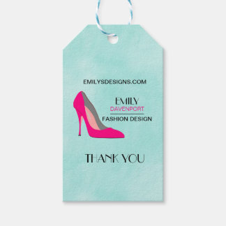 Etiquetas Para Regalos Gracias de los negocios de la moda del zapato del