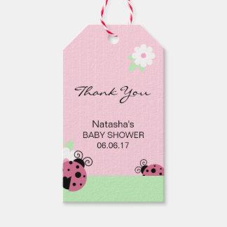Etiquetas Para Regalos Gracias fiesta de bienvenida al bebé rosada de la