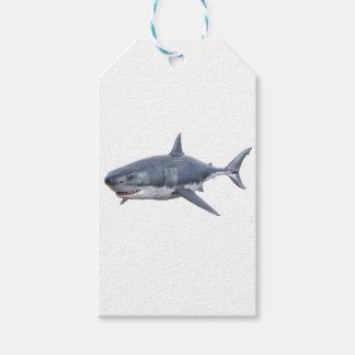 Etiquetas Para Regalos gran tiburón blanco que nada a la derecha