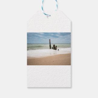 Etiquetas Para Regalos Groynes en la orilla del mar Báltico