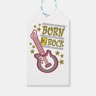 Etiquetas Para Regalos Guitarra nacida de la roca, diseño del guitarrista