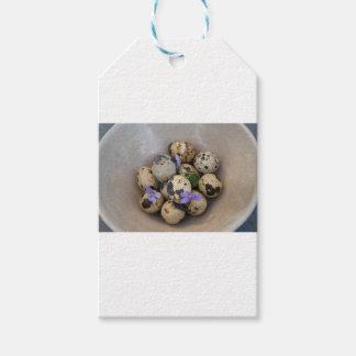 Etiquetas Para Regalos Huevos de codornices y flores 7533