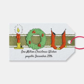 Etiquetas Para Regalos Humor de las medias del navidad del Victorian del