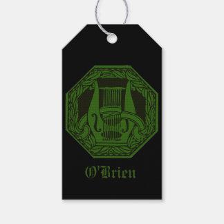Etiquetas Para Regalos Insignia verde del Lyre