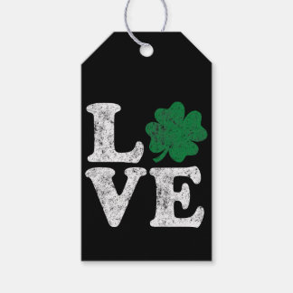 Etiquetas Para Regalos Irlandés del trébol del AMOR del día de St Patrick