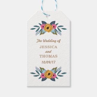 Etiquetas Para Regalos La colección blanca del boda de la guirnalda