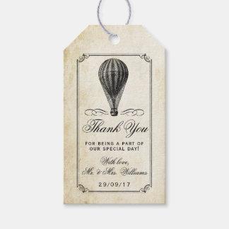 Etiquetas Para Regalos La colección del boda del globo del aire caliente