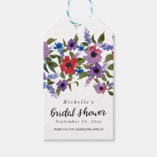 Etiquetas Para Regalos La ducha nupcial el | de la escritura floral de la