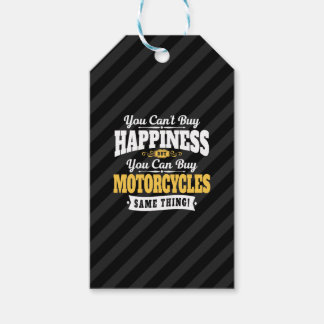 Etiquetas Para Regalos La felicidad de la compra del canto del motorista