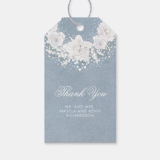 Etiquetas Para Regalos La respiración y el boda azul polvoriento del bebé