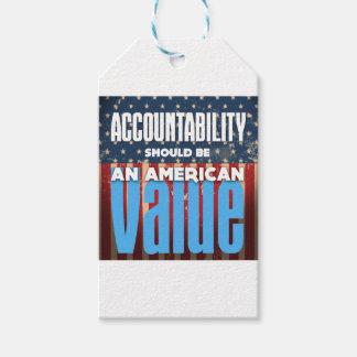 Etiquetas Para Regalos La responsabilidad debe ser un valor americano,