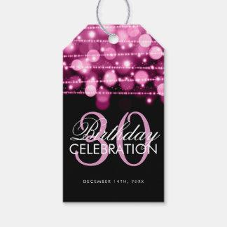 Etiquetas Para Regalos La trigésima fiesta de cumpleaños elegante chispea