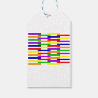 Etiquetas Para Regalos Línea multicolora diseño