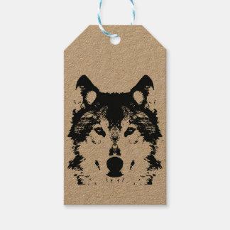 Etiquetas Para Regalos Lobo negro del ilustracion