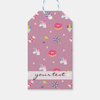 Etiquetas Para Regalos lollipops rosados lindos de las flores de los