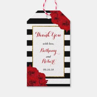 Etiquetas Para Regalos Los rosas rojos de la colección de lujo moderna