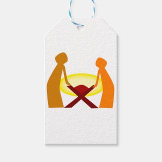 Etiquetas Para Regalos Maria José y bebé Jesús