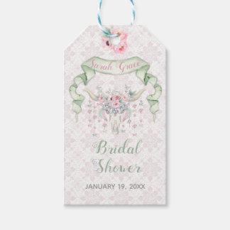 Etiquetas Para Regalos Menta floral tribal del rosa de las flechas de los