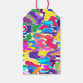 Etiquetas Para Regalos Modelo multicolor abstracto