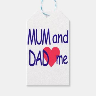 Etiquetas Para Regalos Momia y papá yo, mamá